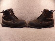 USED Red Wing Men's Work Boots Brown Leather Steel Toe Size 13 Oil Resistant