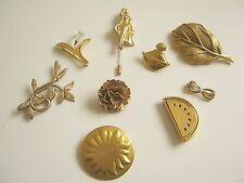 Lot 9 broches vintage de Marques toutes signées TBE/lot french broochs signed