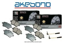 [FRONT+REAR] Akebono Euro Ceramic Brake Pads And Sensors USA MADE AK96716