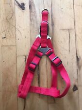"""No Pull Step-In Nylon Dog Strap Harness Red 22""""-28"""""""