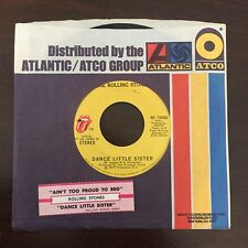 """THE ROLLING STONES """"Ain't Too Proud To Beg"""" (45) '74  sleeve + jukebox strip EX!"""