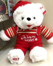 """2017 WalMART CHRISTMAS Snowflake TEDDY BEAR White A Boy 20"""" Red Outfit Brand.New"""