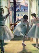 Edgar Degas Three Dancers In A Practice Room Old Master Canvas Art Print