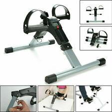 Folding LCD Pedal Mini Exerciser Aerobic Bike Arm/Leg Foot Workout Home Exercise