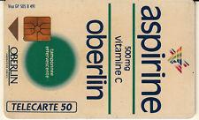 France télécarte 50 Aspirine Oberlin