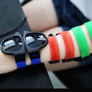 Fashion Premium Folding Sunglasses Sun Glasses Unisex Adults Slap Wristband