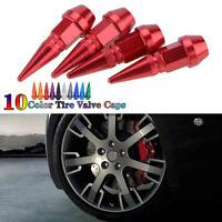 4PCS Car Bike Wheel Tire Tyre Air Valve Caps Stem Cover Accessories RED New