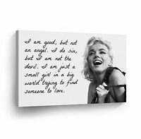 Marilyn Monroe Quotes 'I`m Good but not an Angel' Decorative Art Canvas Print