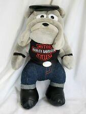 "Harley-Davidson Motorcycles Plush Dog Bulldog 12"" Official Licensed 1993"