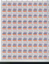 YUGOSLAVIA: FULL SHEET OF 100 x 2 DINARA STAMPS, 1992 BARCELONA OLYMPICS COMMEM