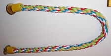 New listing 3/4� dia Bendable Rope perch 33� Long Parrot Bird Toy