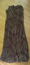BNWT Principles size 12 long silk mix velour mauve patterned dress party formal