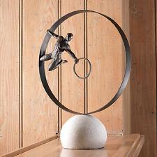 """Modern """"Circle in Circle Man"""" Metal Sculpture+Marble Base, Global Views #8.81683"""