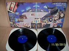 THE MOODY BLUES Caught Live +5 1977 London GF DBL LP 2 PS 690/1 EXC-/EXC