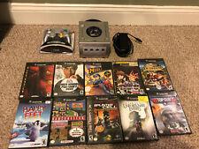 Gamecube Console and 10 game bundle lot Namcomuseum, Spiderman, Megaman