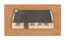 A studio pottery thatched cottage wall plaque English