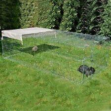 Rabbit Guinea Pig Run Pen Metal with Escape Barrier Sun Protection Shield Garden