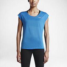 NWT Nike Women's Short Sleeve Running Top 719870 Color Light Blue Size XL