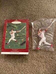 Mark McGwire St Louis Cardinals Baseball Christmas Tree Ornament White Jersey