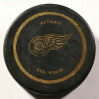 Detroit Red Wings Vintage Hockey Puck Black & Gold NHL