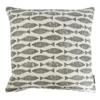 Scion Modern Vintage/Retro 50s 60s coast Fish fabric Cushion Cover-Samaki Grey