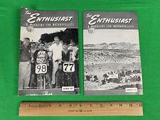 Oct 1953 & Feb 1954 The Enthusiast Magazine,  Harley Davidson Motorcycle, lot
