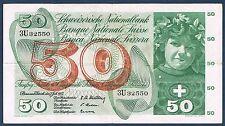 SUISSE - 50 FRANKEN Pick n° 176 a du 7 juillet 1955 en TTB 3U32550