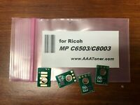 4 x Toner Chip for Ricoh Aficio MP C6503, MP C8003 (842196 ~ 842197) Refill