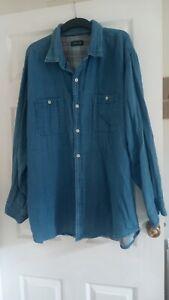 Men's ORVIS denim shirt Size XXL