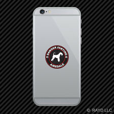 Danger Farting Airedale Cell Phone Sticker Mobile Die Cut