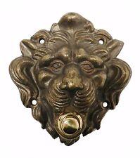 Campanello leone pulsantiera 1 pulsante ottone brunito antichizzato