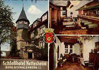 Schieder SCHWALENBERG Lippe ~1960/70 Schloss Hotel Nettesheim color Postkarte