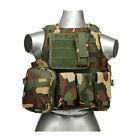 Tactical Vest 600D Nylon Plate Carrier Vest Gear Breathable Combat Training Vest