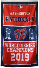 Washington Nationals 2019 World Series Champions Flag banne Man Caver 3X5Ft