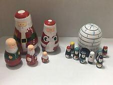 Santa And Igloo Nesting Dolls Sets