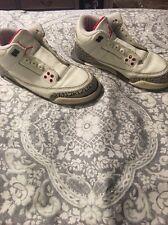 Air Jordan 3 (III) 2003 Retro White Cement Grey Fire Red size 5 Nike