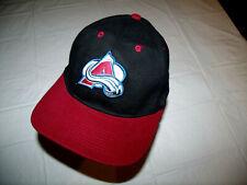 Colorado Avalanche Black Hat/Maroon Brim Vintage Drew Pearson 1990s Adjustable