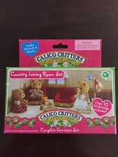 Calico Critters Country Living Room Set #CC2127 Retired New in Box