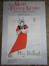May Belfort Toulouse-Lautrec French Lithographs Vintage British Museum Poster