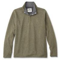 Men's Wrangler Fleece Sweater Jumper Sweatshirt Quarter Snap Popper RRP $26.99