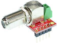 F Type Jack Female connector Breakout Board, elabguy FJ-BO-V1A, TV Antenna