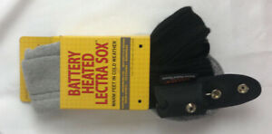 NEW Nordic Gear Battery Heated Lectra Sox Hiker Boot Style Grey/Black Size L/XL