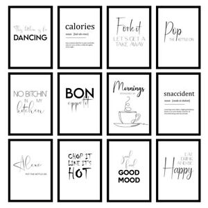 Funny Kitchen Cooking Quote Modern Minimalist Wall Art Prints Unframed Posters