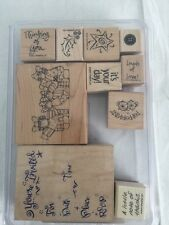 Stampin' Up Rubber Stamps Set Of 10 A Greetings For All Seasons