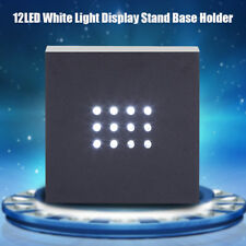 12 LED White Light Display Stand Base Holder for Crystal/Glass Art Home Decor CO
