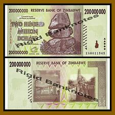 Zimbabwe 200 Million Dollars, 2008 P-81 Replacement (ZA) Unc