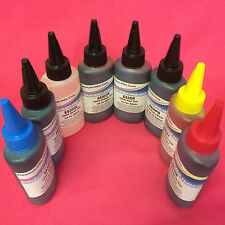 8x100ml DYE Refill Ink For Epson Stylus Photo R2000 Printer PB/C/M/Y/MB/OR/R/G