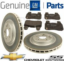 For Chevrolet Camaro SS V8 6.2L Front Brake Pad Set & 2 Disc Rotors Kit GENUINE