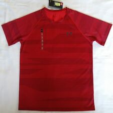 Under Armour HeatGear Men's Running Gym Shirt Red Size Small S NWT