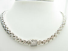 JOHN HARDY Sterling Silver Classic 6mm Diamond Wheat Chain Necklace 16''